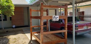 Handmade solid wood bunk bed for Sale in Dinuba, CA