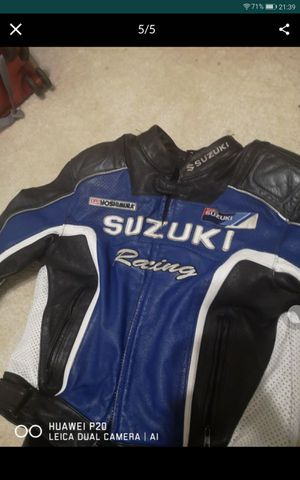 SUZUKI racing motorcycle jacket and RST racing pants for Sale in Tempe, AZ