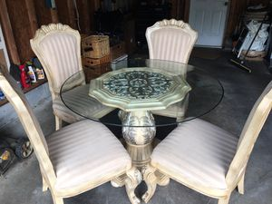 Glass Dining Table and Chairs for Sale in Celebration, FL