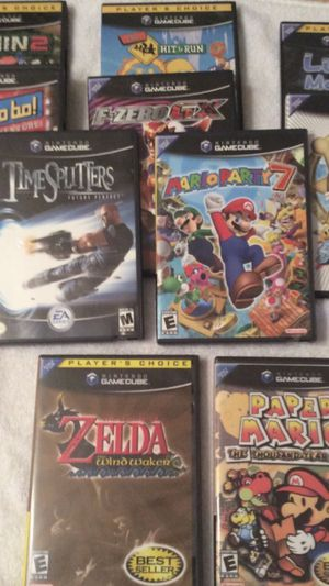Nintendo GameCube games lot of 10 games IN ORIGINAL CASES for Sale in Littleton, MA