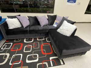 Brand new black fabric sectional sofa for Sale in Dallas, TX