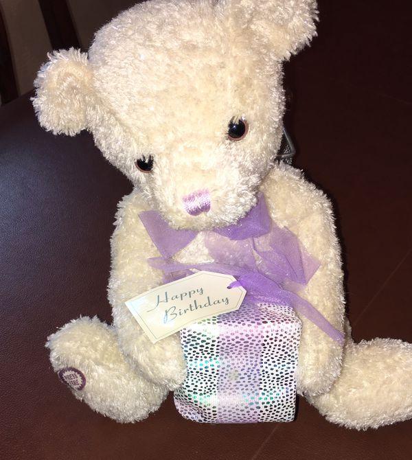 New plush/stuffed birthday bear