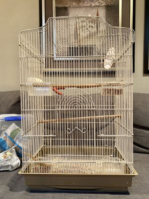 Extra large bird cage with accessories for Sale in Bellevue, WA