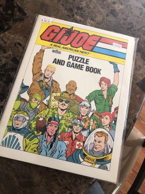 1987 G.I. Joe puzzle and game book *NEVER USED* for Sale in San Jose, CA
