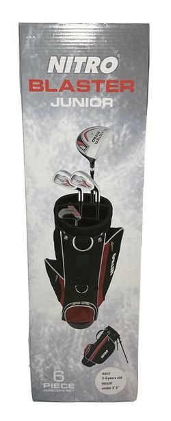 Nitro Blaster Junior 6 Pc Golf Set ~ NEW with Stand Bag Ages 3-6 for Sale in Humble,  TX