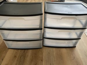 2 Plastic Storage Drawers for Sale in Harbor City, CA