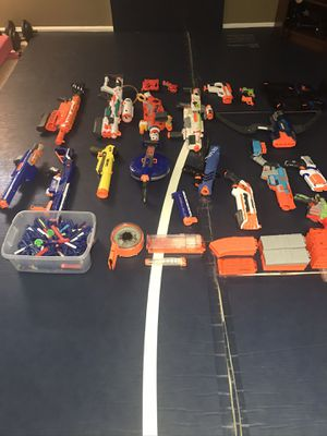 18 Nerf Guns, bullets and accessories. for Sale in Lorton, VA