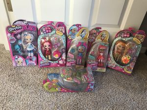 Shopkins Shoppies dolls NEW lot of 8 ( see all photos) for Sale in Snohomish, WA