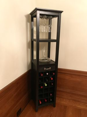 Pottery barn wine tower, black, excellent condition for Sale in Alamo, CA