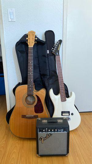 Fender and Kramer Guitar Bundle for Sale in Los Angeles, CA