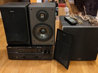 Yamaha RX-V861 AV Receiver With Polk PSW10 Subwoofer and Sony Bookshelf Speakers for Sale in Bothell,  WA