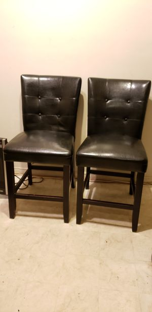 Black Leather Counter Height Chairs for Sale in Washington, DC