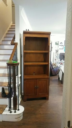 Large Wood Curio Display Cabinet for Sale in Cedar Park, TX