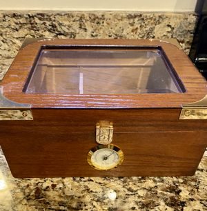 Wood and brass humador for Sale in Rockville, MD