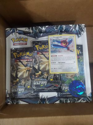 Pokemon tcg Ultra Prism 3 packs with promo card and coin for Sale in Riverside, CA