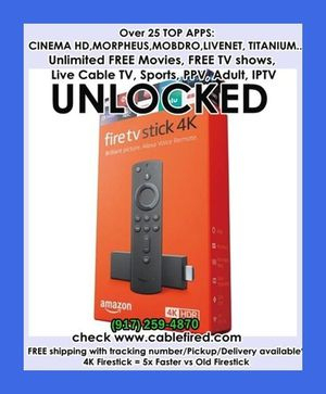 Fire TV stick with new Alexa voice record for Sale in New York, NY