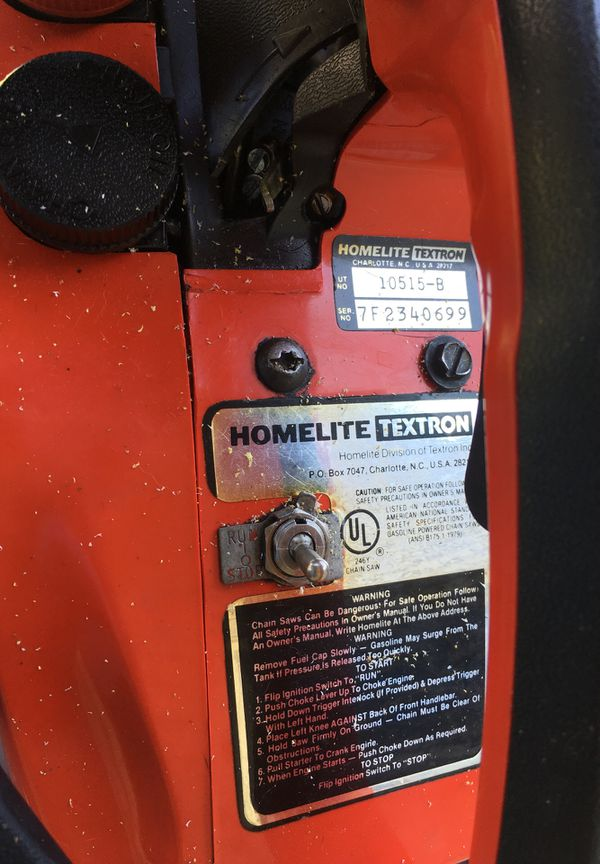 Homelite XL Altomatic Oiling for Sale in Danbury, CT - OfferUp