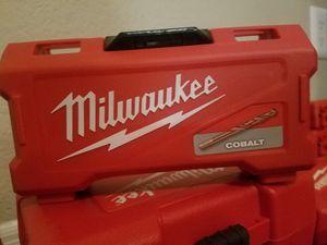 Milwaukee Cobalt drill bit set for Sale in Phoenix, AZ