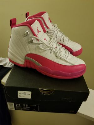 Pink & White Jordan 12s 7.5Y for Sale in Baltimore, MD
