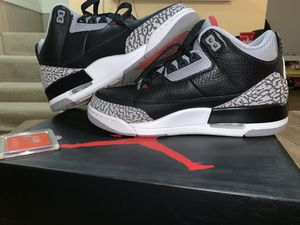 Black cement 3s (latest release) sz 8 for Sale in Rockville, MD