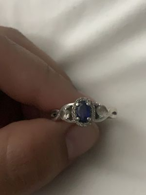 Blue sapphire sterling silver ring from Kay jewelers size 8-8.5 for Sale in West Chicago, IL
