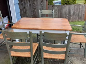 Kitchen Table With 5 Wood Chairs Delivery Is Available Firm On My Price for Sale in Everett,  WA