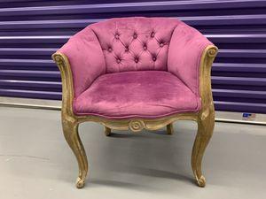 Tufted Velvet Accent Chair for Sale in Fairfax, VA