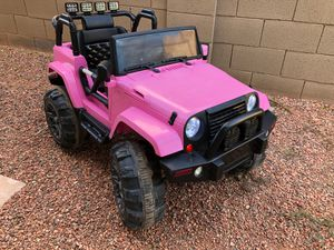 Power Wheels 12v kids jeep headlights and brake lights and radio for Sale in Surprise, AZ