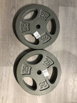 25 lbs brand new 1inch weights for Sale in Elmwood Park, IL