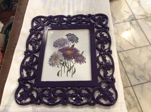 Deep royal purple picture frame for your artwork!!! $40 for Sale in Downers Grove, IL