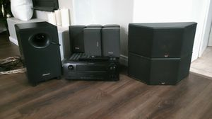 AL24 Denon Receiver with 7.1 surround sound home theater system. for Sale in Bakersfield, CA