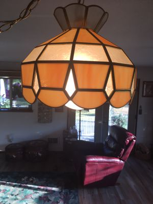 Stained glass, plug in swag lamp for Sale in Stanwood, WA