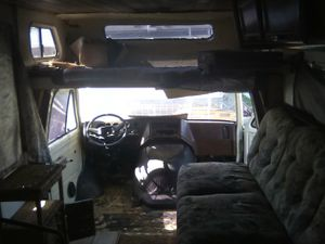 Mini RV 1983 CHEVY G30, NEEDS STARTER, NO TOILET, SHOWER,THE ROOM IS THERE! OR STOVE, FRIG, NO SINK or TAGS! for Sale in Gardena, CA