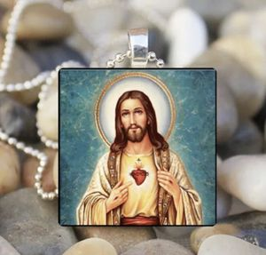 NEW JESUS CHRIST Holy Son of God Religious Glass Tile Pendant Necklace JESUS w/bag for Sale in Indianapolis, IN