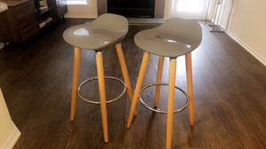 Grey and wood bar stools for Sale in Fairfax, VA
