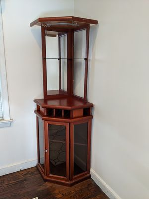 Corner bar cabinet for Sale in Berkeley Heights, NJ