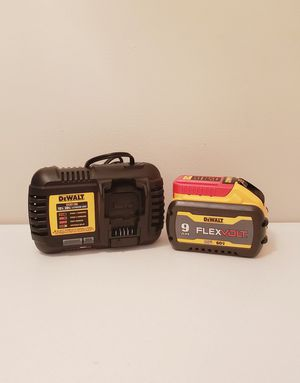 New Battery Flexvolt 9.0 And Charger 6 AMP for Sale in Woodbridge, VA