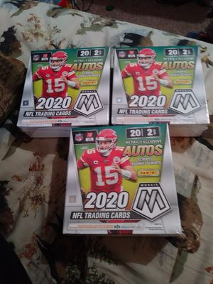 3 Mosaic Panini Football cards Mega boxes for Sale in Hemet, CA