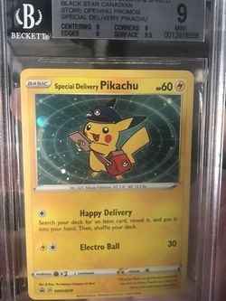 Special Delivery Pikachu Beckett 9 for Sale in Burbank,  CA