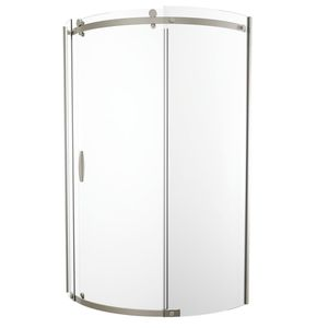 "New 38"" delta frameless corner sliding shower door enclosure in stainless steel $300 for Sale in Lynnwood, WA"