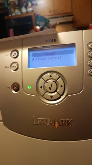 Lexmark T-640 printer 2 paper trays. Works like it should. for Sale in Niles, IL