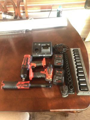 SNAP ON cordless tools and 2 impact socket sets brand new for Sale in Escondido, CA