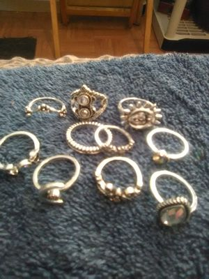 Silver rings in different styles for Sale in Orlando, FL