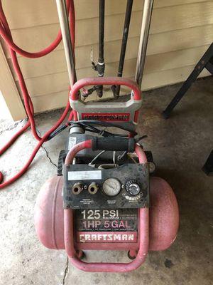 Craftsman 125PSI 1HP 5-gallon Compressor for Sale in Fullerton, CA