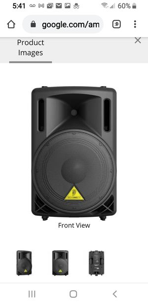 """1 PAIR BehringerB212A - 2-Way 12"""" 400 Watt Active P.A+ stands. Loudspeaker NEW for Sale in CRYSTAL CITY, CA"""