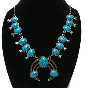Womens statement faux turquoise in silver tone metal for Sale in Temecula, CA