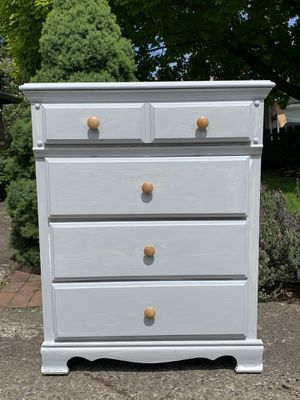 Vintage solid wood shabby chic dresser for Sale in Portland, OR