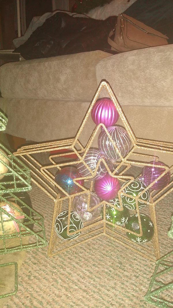 3 pc. Christmas Decor. 2 trees 1 star