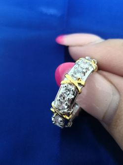 New Ring. Gold 10kt.Dianond(Moissanite)7-sz.Gift for Sale in Needham,  MA