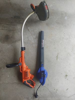 Electric Black and decker trimmer/ sunjoe blower for Sale in Lincoln, NE